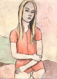 June Sira - A girl with a red shirt